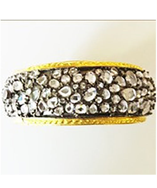 Bangle Encrusted with Flat Crystals