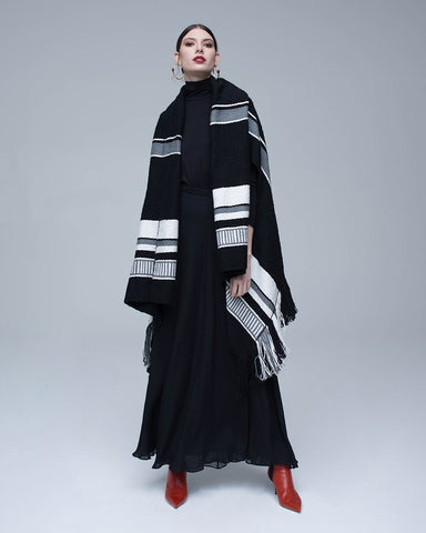 VOZ Striped Cascade Wrap