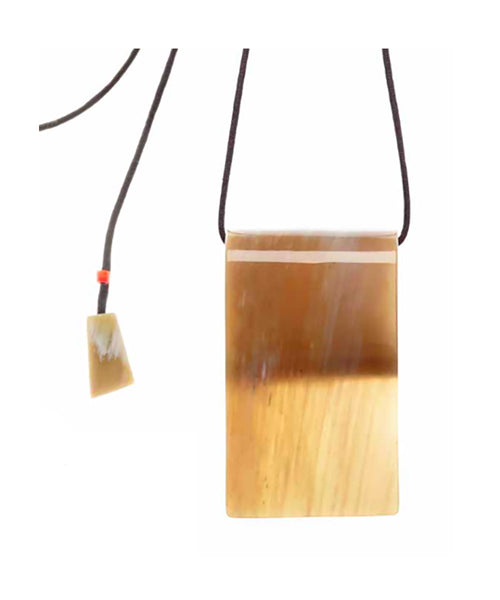 CATHs Rectangular Horn Pendant Necklace