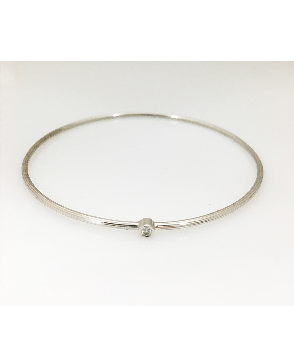 18KWG Bracelet with Diamond