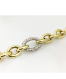 Handmade Cable Bracelet | 18 Karat Yellow Gold & Diamonds | Limited Edition