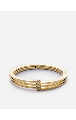 Miansai Polished Gold Plated Offset Cuff