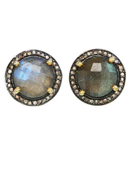 Margo Morrison Faceted Labradorite Earrings