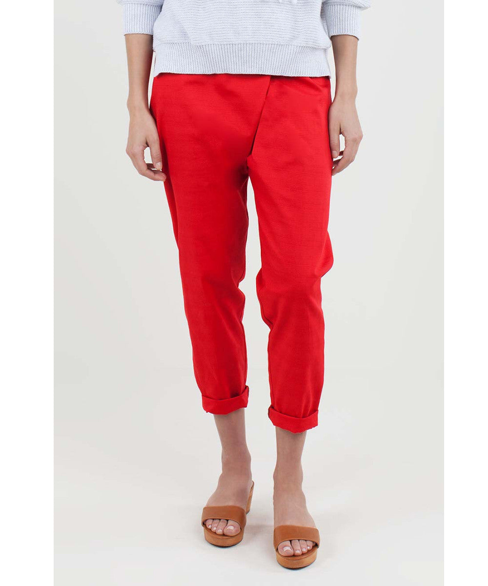 Emerson Fry Wrap Pant - Hot Red