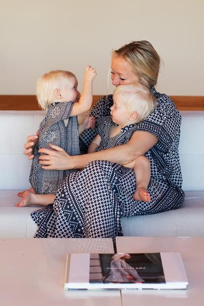 Matching kaftans for mother and daughters