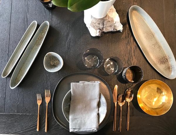 Shop the Ripple Collection at PATRICIA. Designed by Mark Warren of HAAND in our home state of North Carolina. Beautiful, modern plates for the minimal home.