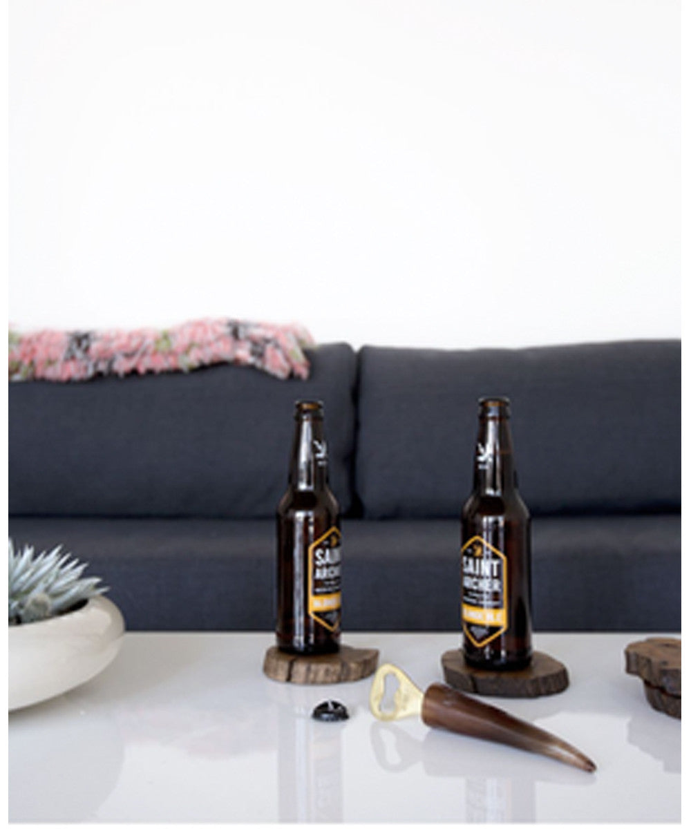 Ankole Horn & Pure Brass Bottle Opener- Light