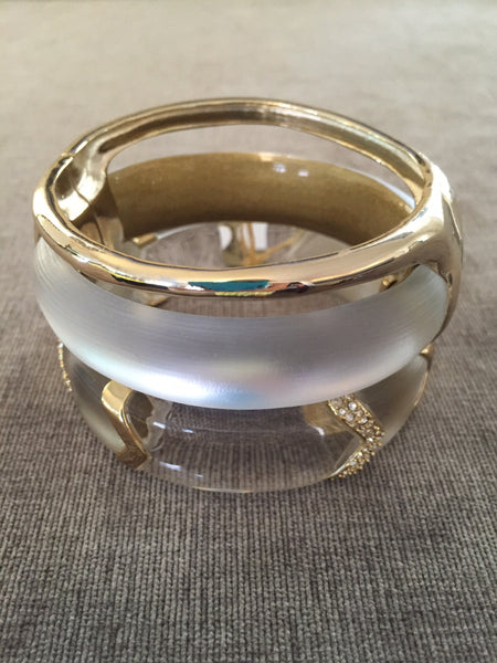 Alexis Bittar Liquid Stacked Hinged Bangle