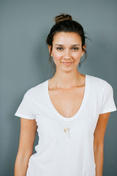 Tess + Tricia Seed Beaded Antler Tip Necklace