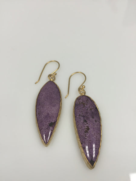 Heather Benjamin Handmade Purple Stiticilite Earring