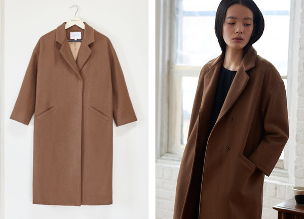 Emerson Fry  Drop Shoulder Coat Camel