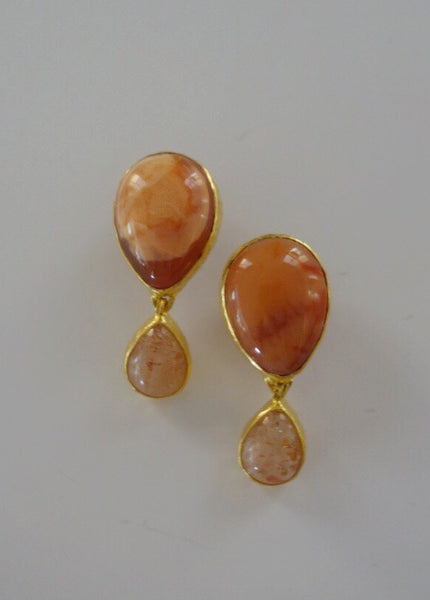 Heather Benjamin | Handmade Peach Mexican Opal Earring
