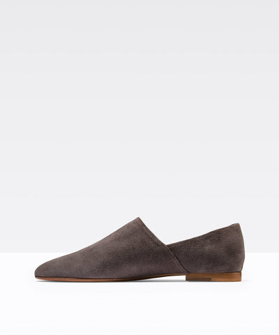 Vince Maude Steel Suede Slip-on Flat