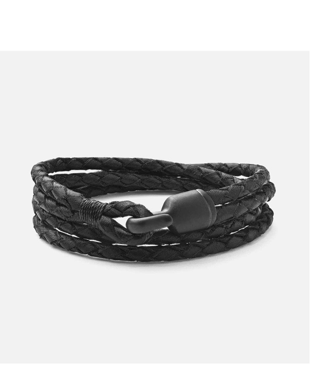 Miansai Black Trice Bracelet with Black Hook