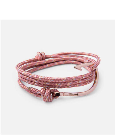 Miansai Hook on Rope Bracelet, Rose Plated, Pink