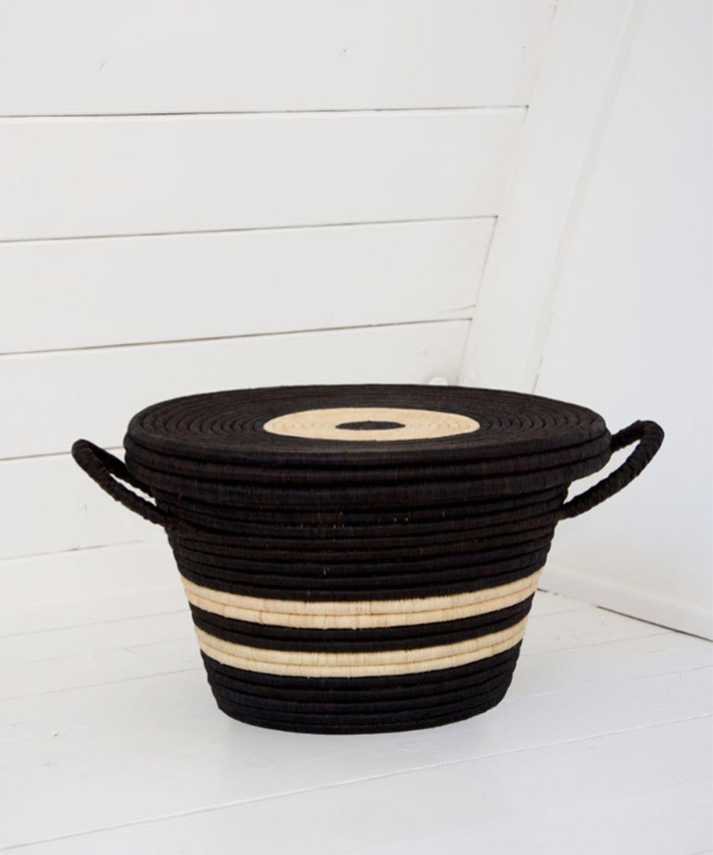 Rose & Fitzgerald Palm Bullseye Basket