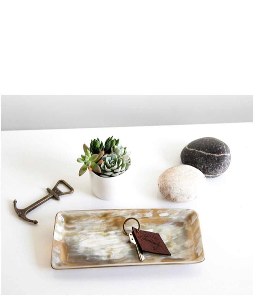 Ankole Horn Heirloom tray- light