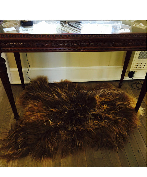 Rusty Brown Lambskin Rug