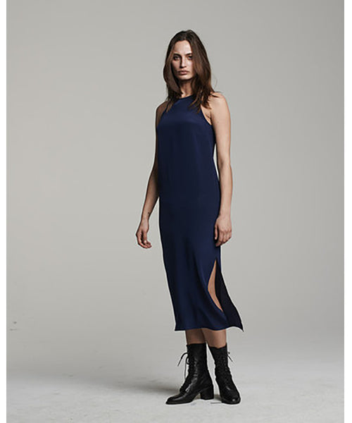 VOZ Cami Slip Dress Navy