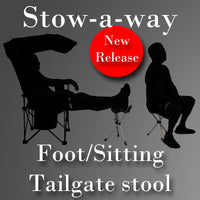 Stow-a-way tailgate stool