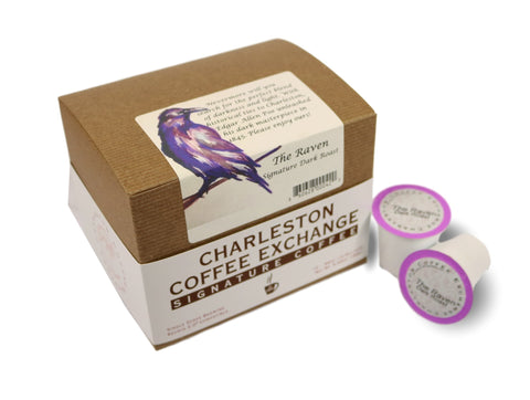 Charleston Coffee Exchange Raven Dark Roast K-cup