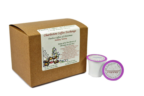 Charleston Coffee Exchange Twelve Flavors of Christmas Holiday K-Cup