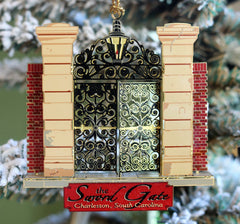 Charleston Sword Gate Brass Christmas Ornament
