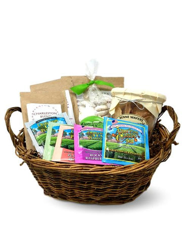 Local Charleston Coffee Tea Cooie Benne Wafer Gift Basket