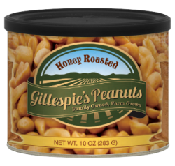 Gillespie's Honey Roasted Peanuts 10 oz