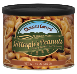 Gillespie's Chocolate Covered Peanuts, 10 oz