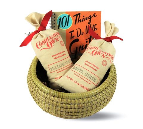 Charleston Stone Ground Grits 101 Cookbook Gift Basket