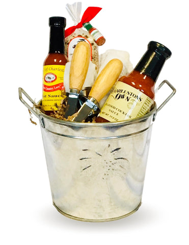 Charleston Oyster Roast Seafood Bucket Gift Basket