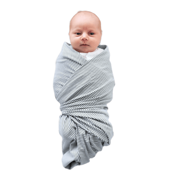 """Amsterdam"" - Olive and Ivory Stripe Oversized Swaddle - Beluga Baby Store"
