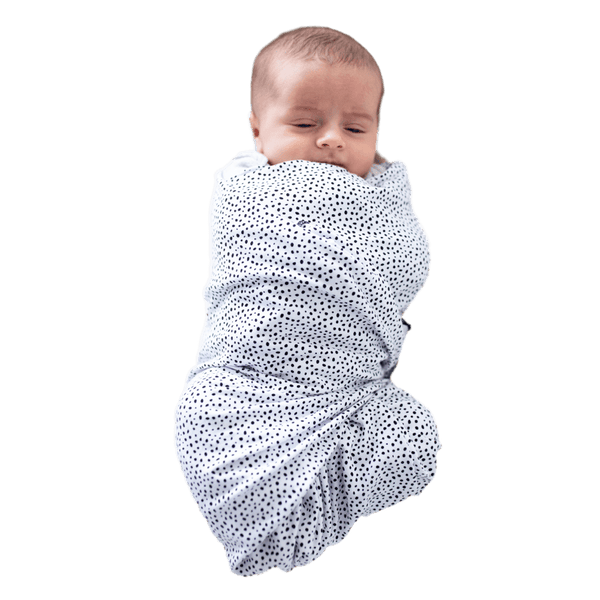 """Portland Pebble"" - Black & White Dots Oversized Swaddle - Beluga Baby Store"