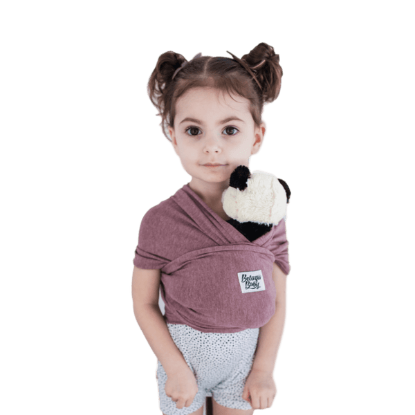 """Paris"" Heather Mauve Mini Beluga - Children's Doll Carrier - Beluga Baby Store"