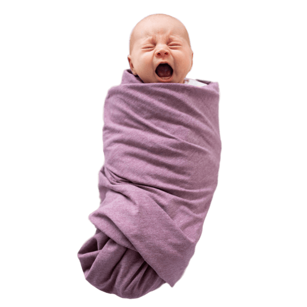 """Paris"" Heather Mauve Oversized Swaddle - Beluga Baby Store"