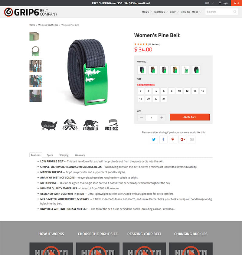 Grip6 Product Page