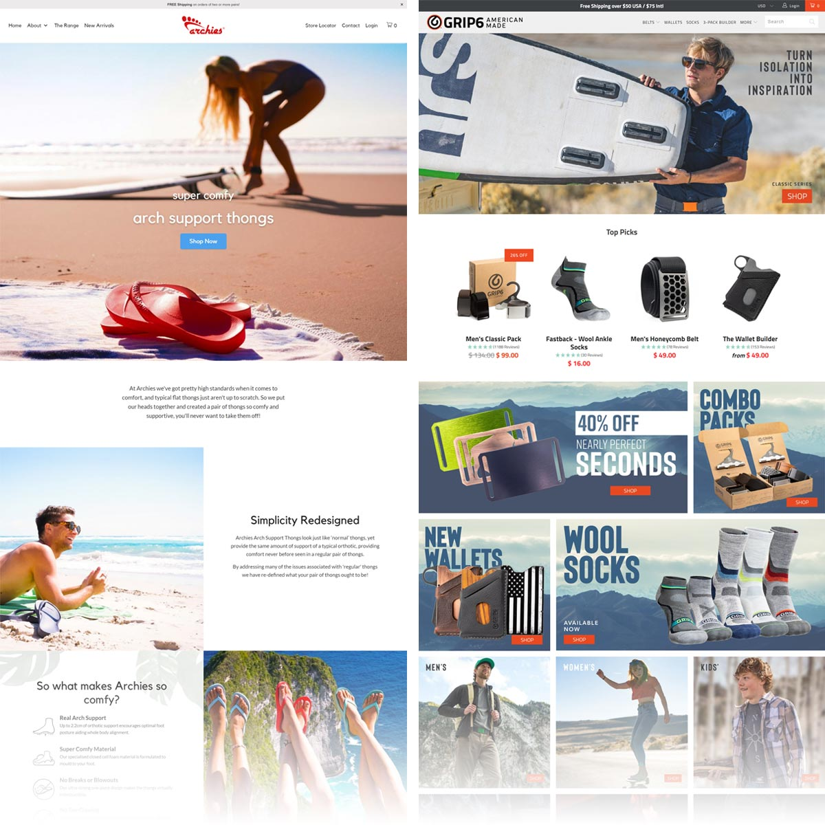 Ecommerce Home Page Examples