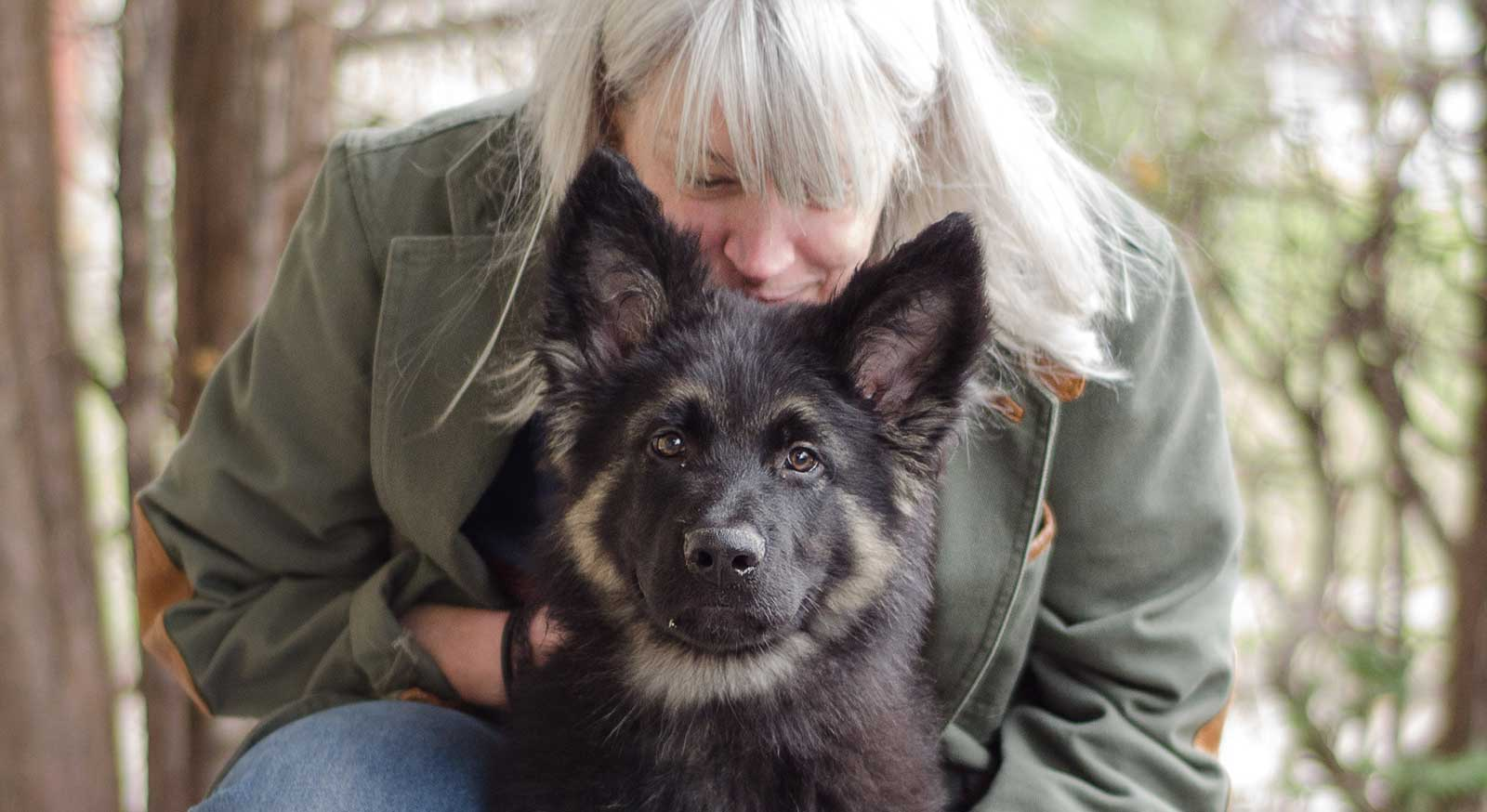 Nina Wolf and her dog Fergus