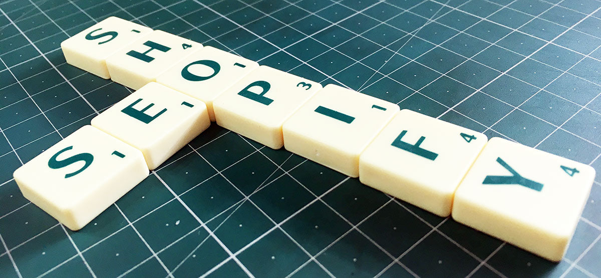 Shopify SEO Scrabble pieces (because we're arty and good with metaphors)