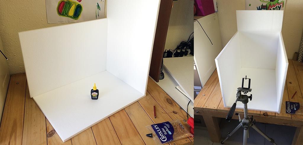 Product Photography Box being stuck together