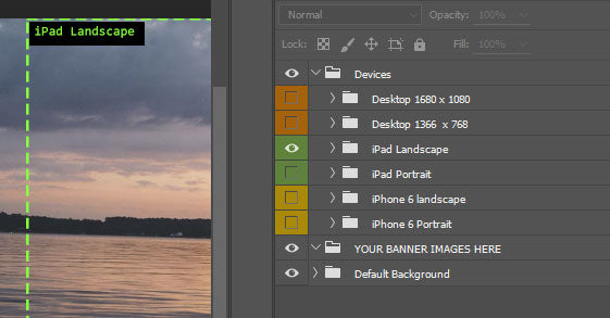 Toggling Layer Sets in Photoshop for the Parallax Shopify Theme by Out of the Sandbox