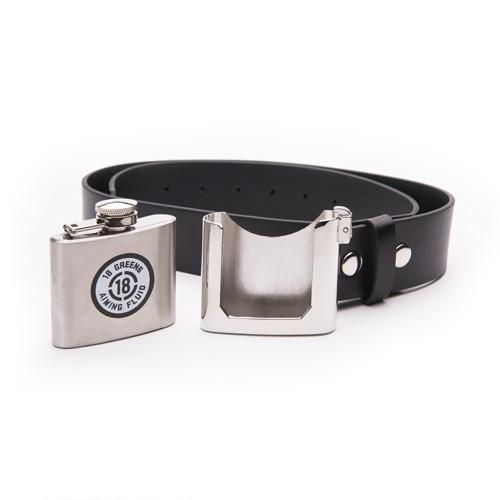 Aiming Fluid Belt & Buckle Flask-Black