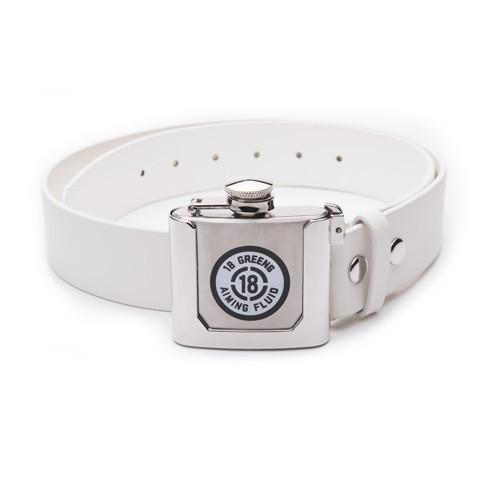 Aiming Fluid Belt & Buckle Flask-White