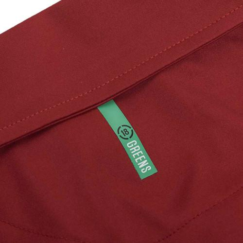Drop Needle Polo-Deep Red