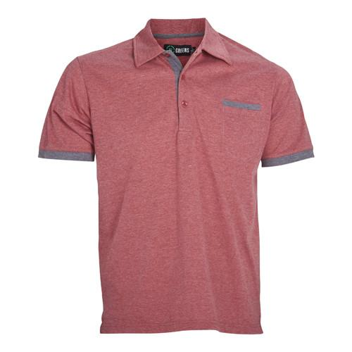 Corner Pocket Polo-Red/Steel