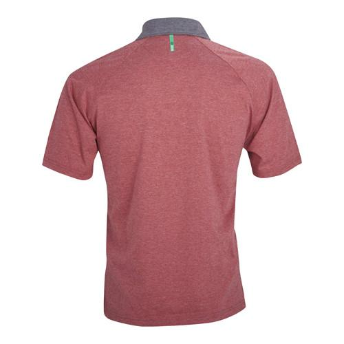 Backside Polo-Steel/Red