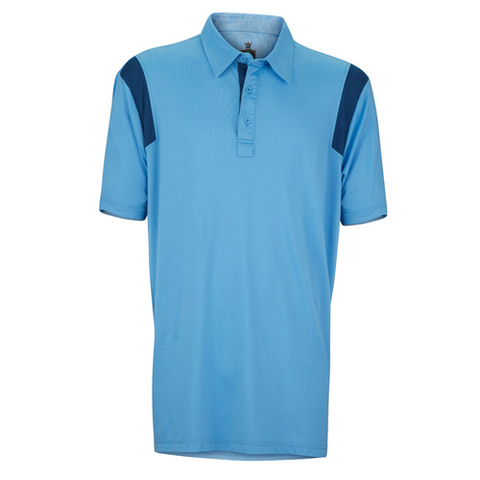 Captain's Pick Polo-Periwinkle/Navy