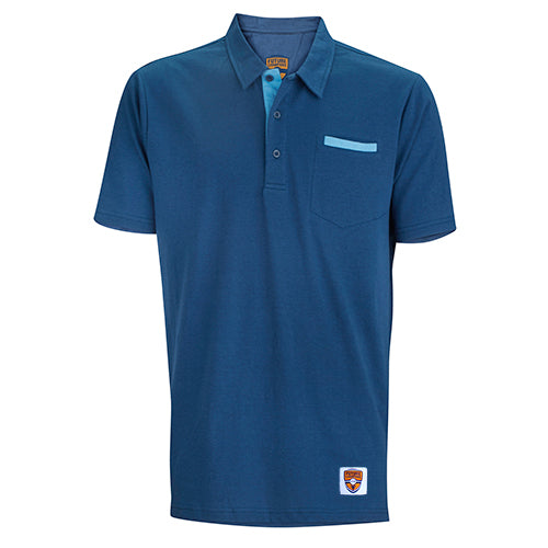 Junior Polo, Corner Pocket, Navy/Periwinkle