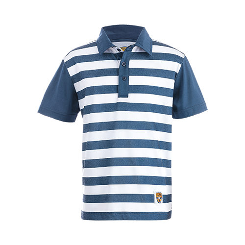 Junior Polo, Folsom Navy/White Stripes